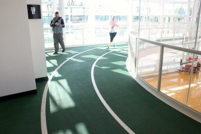 theres-a-track-above-the-court-where-a-nike-employee-was-running-laps-nike-says-olympic-athletes-train-on-the-campus-sometimes