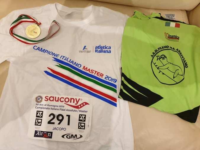 Campione Italiano Fidal 50km categoria M50 1